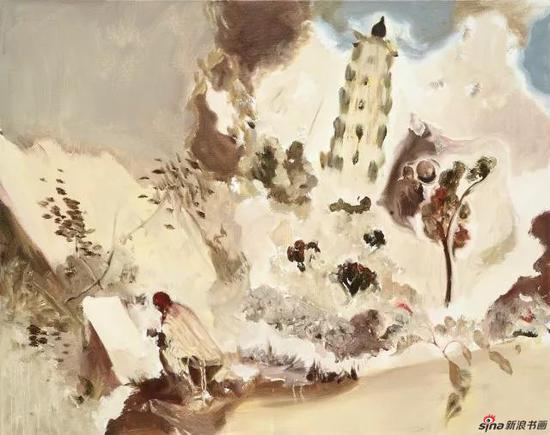 渔村夕照之宝俶山麓 100×80cm 布面油画 2011年