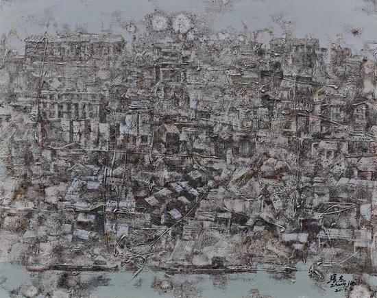 张杰《陪都依稀》之四 100cm×80cm 油画 2017