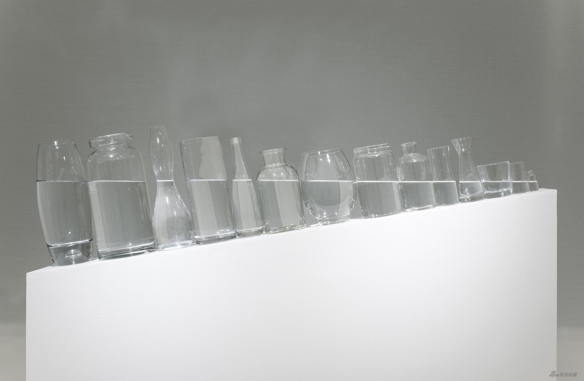 王礼军《水平》玻璃瓶、水