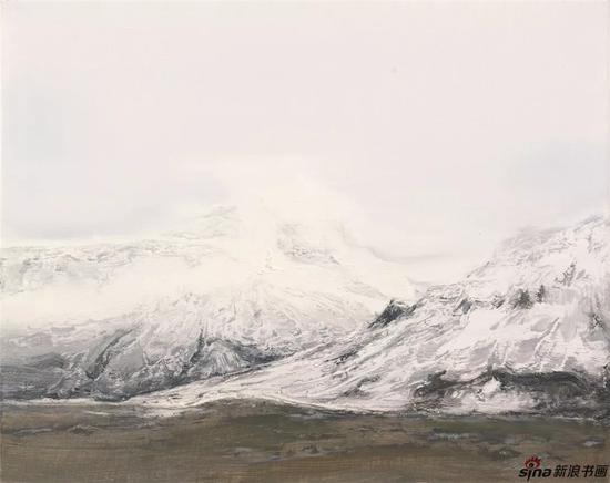 《长云暗雪山之一》纸本色粉56cmx77cm2018年
