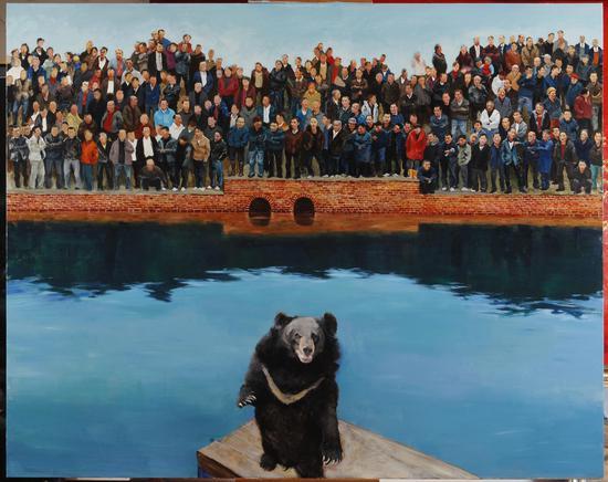 2013年《狗熊》200x250 cm布面油画