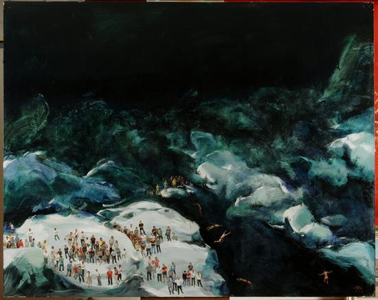 2013年《跳水》 200x250cm布面油画