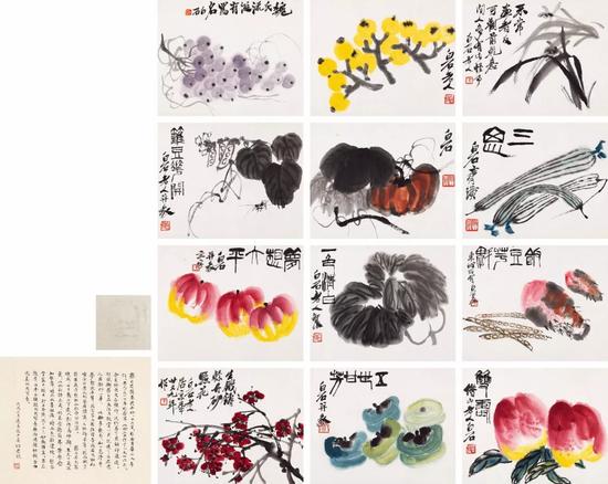 齐白石(1864-1957) 蔬果花卉册