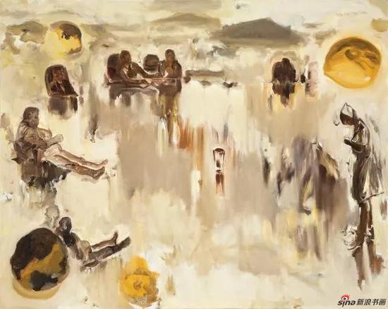 平沙落雁之湖镜万千 100×80cm 布面油画 2011年