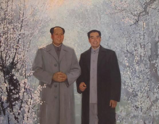 李天祥、赵友萍 《 山花烂漫时 》 布面油画 1967年