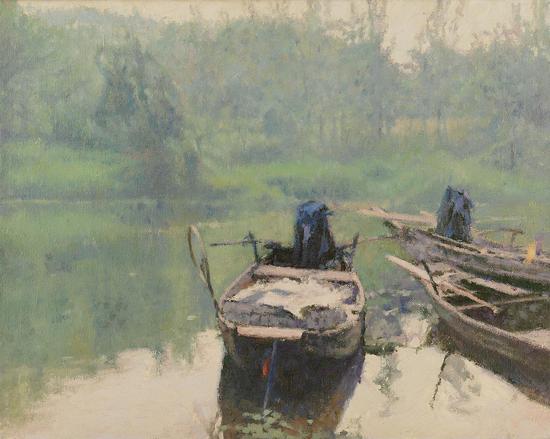 琼湖·静泊 40cm×50cm 布面油画 2007