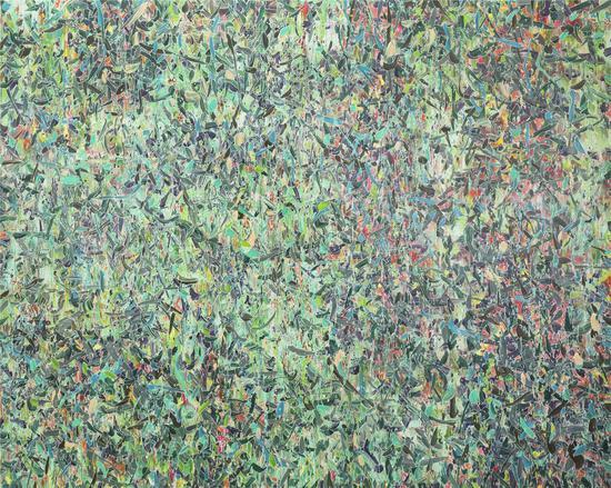 薛峰,《纷飞的纷飞的纷飞的》,布面油画,160×200cm,2015