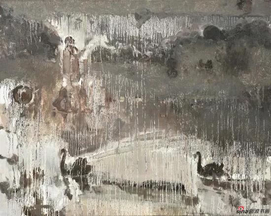 潇湘夜雨之西湖雾象 100×80cm 布面油画 2011年
