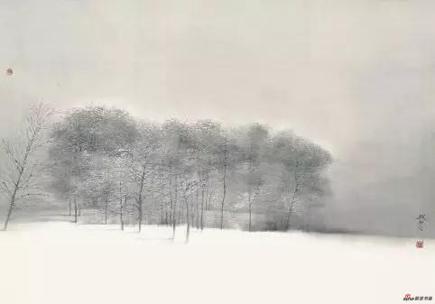 《雪》 70cm×99cm 刘 赦 江苏省中国画学会副会长