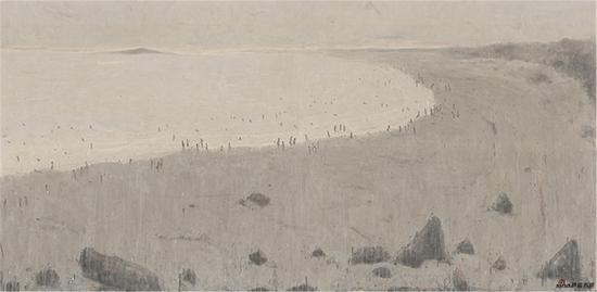 杜小同 崆崆岛(1.98米×4米)水墨宣纸2016