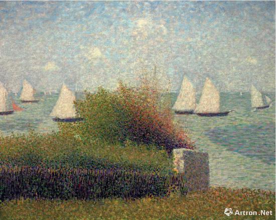 乔治·秀拉(1859-1891) 《格朗康海港》 1885年夏作 3406.25万美元