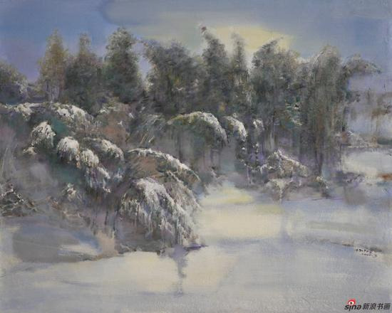 杨广生作品《雪中竹林》100X80cm 2010