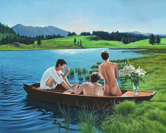 百合Lily 布面丙烯Acrylic on Canvas 120x150cm 2018