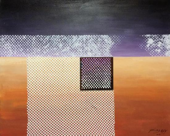 沈雅声 看得见和看不见的风景系列1 综合材料 100×80cm 2018