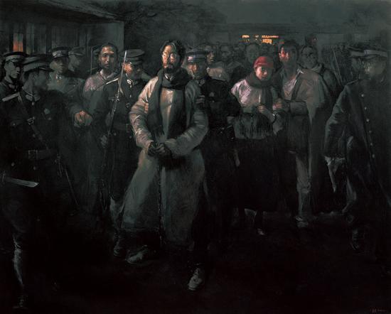 《真理之路——献给在上海龙华死难的人们》250cm×200cm 2011年