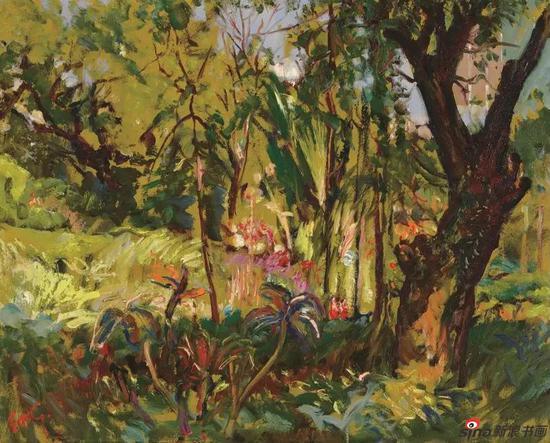 《九龙公园》65x81cm 油画