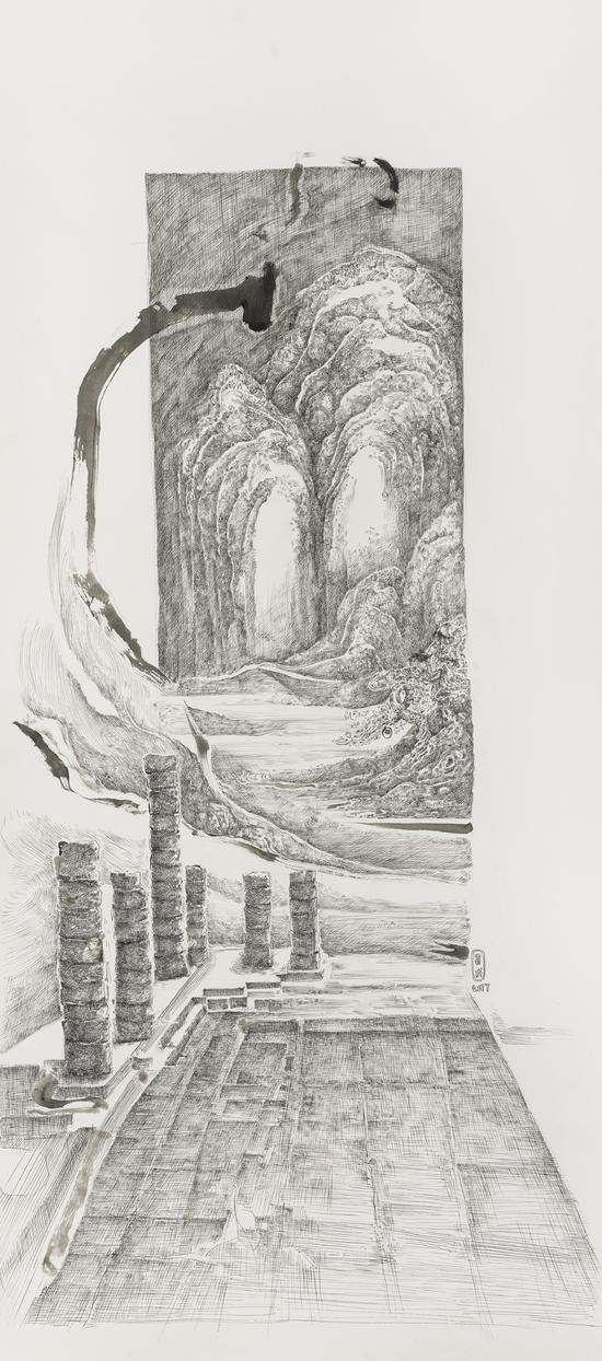 Shape of the history历史的形状一114x50cm