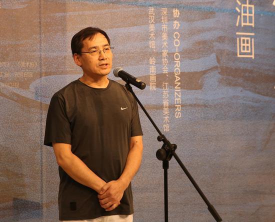 北京当代中国写意油画研究院副院长,中央美术学院造型研究所副所长丁一林致辞