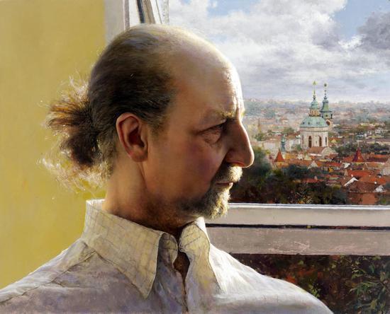 画家于明获奖作品《在布拉格》