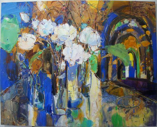 76《龟兹》管朴学 160cm×200cm 布面油画 2007年