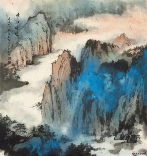 《峡江晴明》 96cm×90cm 许丽晴 江苏省中国画学会副会长