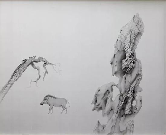 《行者》 2018年 绢本水墨 152x188cm