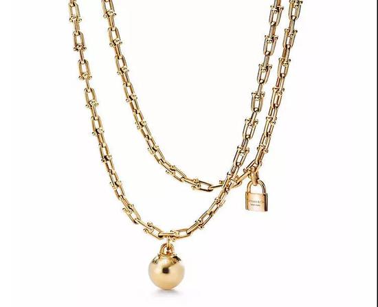 Tiffany Hardwear系列缠绕式项链