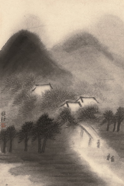 朱雅梅 山水图之八 59.5cm×38.5cm 纸本设色 2018年