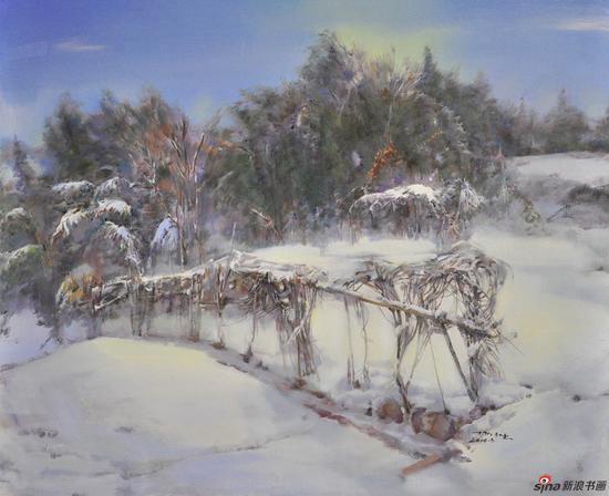杨广生作品《雪晴》120X100cm 2010