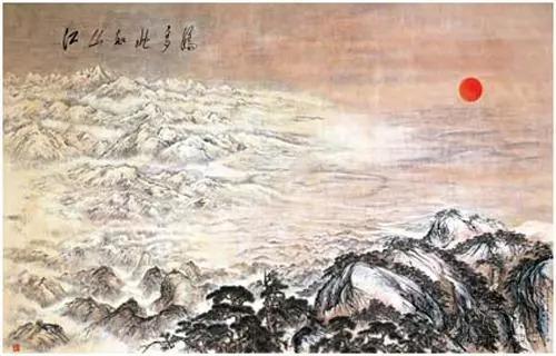 荣宝斋为人民大会堂装裱傅抱石先生巨幅大型中国画《江山如此多娇》