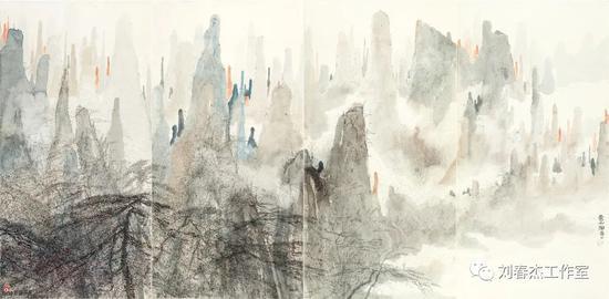 云山图 丨139cm×69cm丨2017年