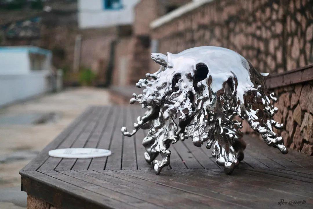 《共境-慢先生》 Shared environment - MrSlow 不銹鋼 Stainless steel 96x100x70cm 2020
