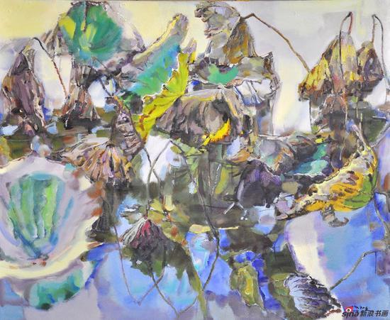 杨广生作品《秋荷斑斓》100X80cm 2009