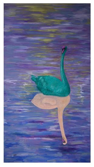 刘林魁 《孤傲的美丽》 130X70cm 画布油彩