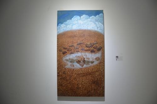 刘林魁 《池塘莲藕一》画布油彩 70X130cm 2014