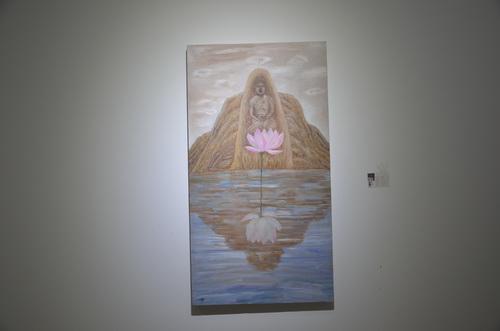 刘林魁 《荷意》画布油彩 70X130cm