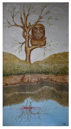 刘林魁《信仰》70X130cm 画布油彩