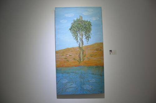 刘林魁 《漠》画布油彩 70X130cm 2014