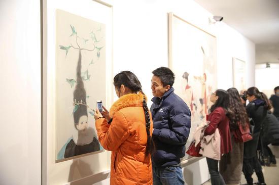 """""""精微致远·2015当代青年工笔人物画学术邀请展"""" 展览现场"""