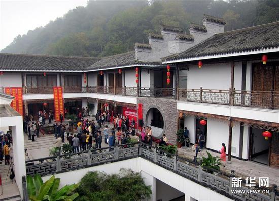 这是台州府城刺绣博物馆外景(11月20日摄)