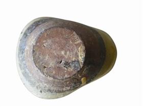 图一:唐代成都青羊宫窑半葫芦形青瓷小水瓢