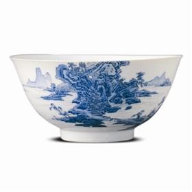 清雍正珐琅彩山水碗