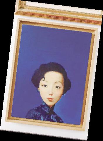 刘野油画作品《张爱玲》。