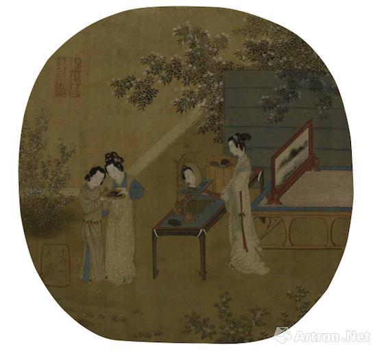 仇英临摹的《宋人画册-半闲秋光》 上海博物馆藏