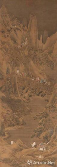 仇英 剑阁图轴 上海博物院藏
