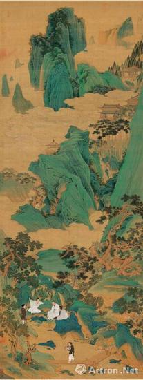 仇英 桃源仙境图轴 天津博物馆藏