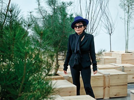 (图:小野洋子在林冠艺术基金会她的个展《金梯子》的展览现场。这是《出口》 摄影:小武)