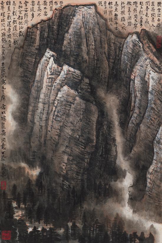 李可染《昆仑雪山图》7015万元成交