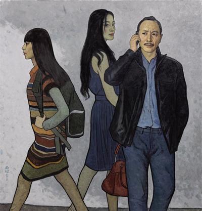 靳尚谊2015年最新创作的《途中》