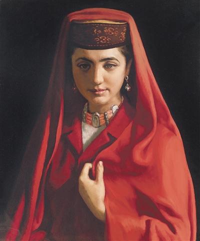 靳尚谊的油画作品《塔吉克新娘》